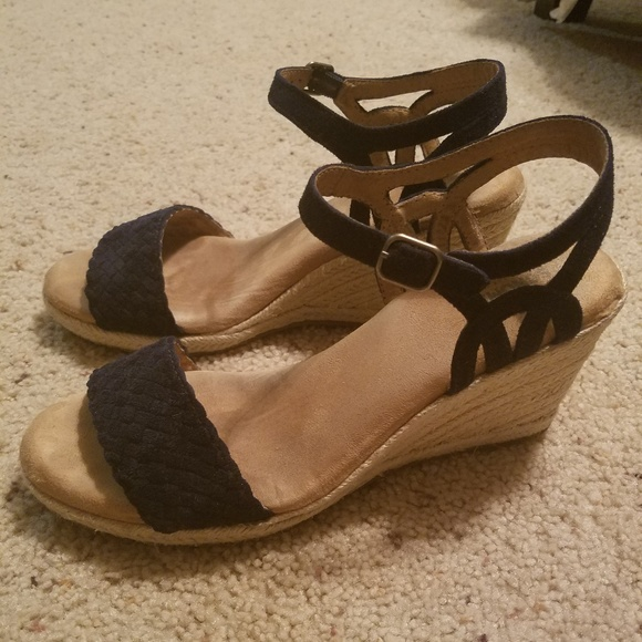 8.5 10 SONOMA Goods Anet Women/'s Espadrille Wedge Sandals Shoes Tan Sz.8